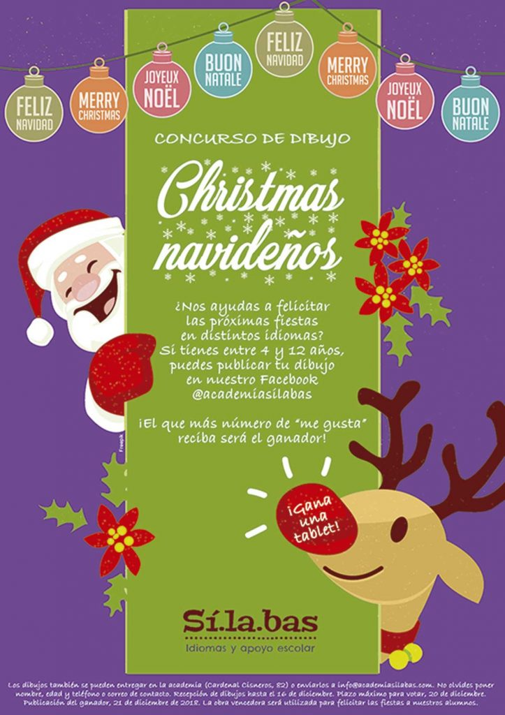 concurso christmas academia idiomas Sílabas Chamberí Madrid